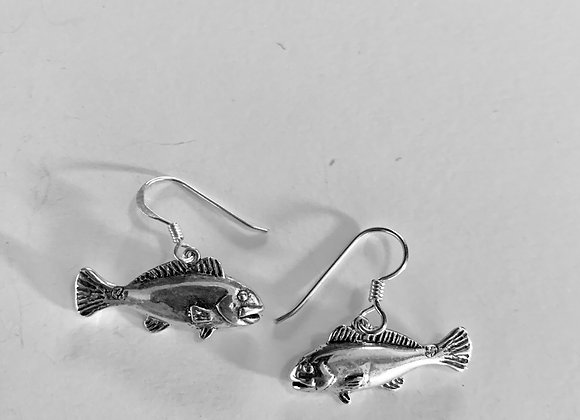 Red Fish Earrings
