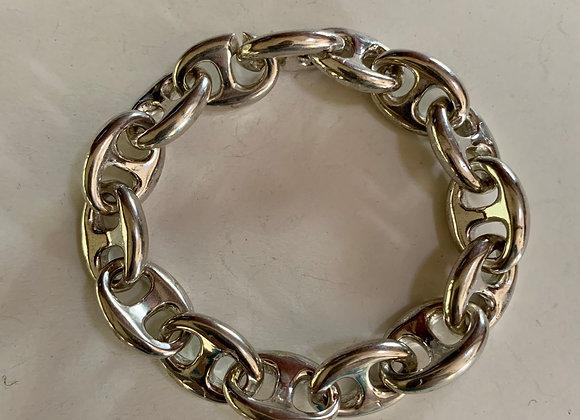 "7"" Large Anchor Chain Link Bracelet"