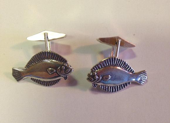 Flounder Cuff Links