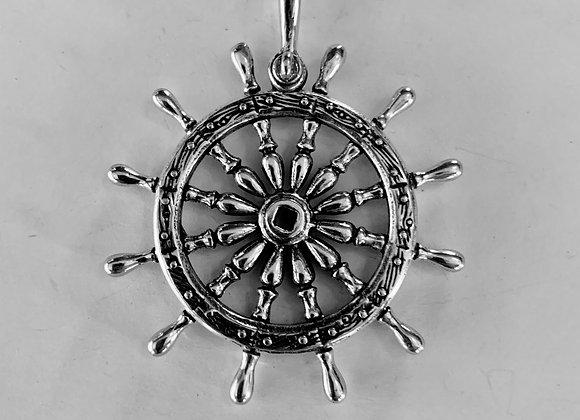 Large Ships Wheel Pendant