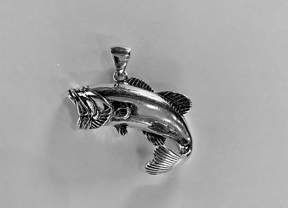 Extra Large  Wide  Mouth Bass Pendant