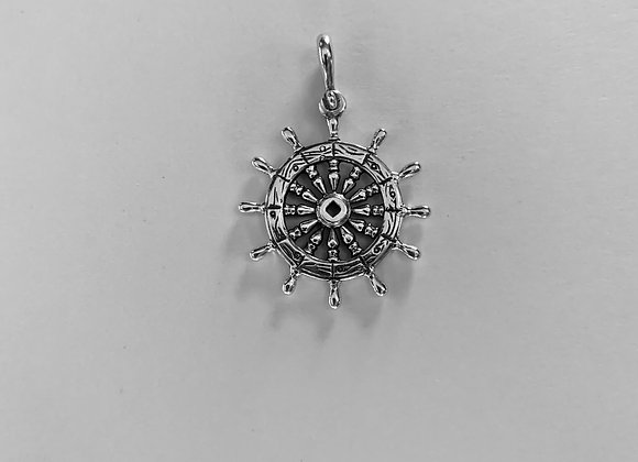 Medium Ships Wheel Pendant