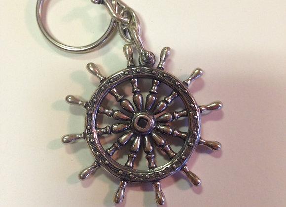 Ships Wheel Key Ring