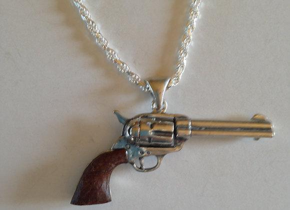 Large Colt 45 Pendant on chain