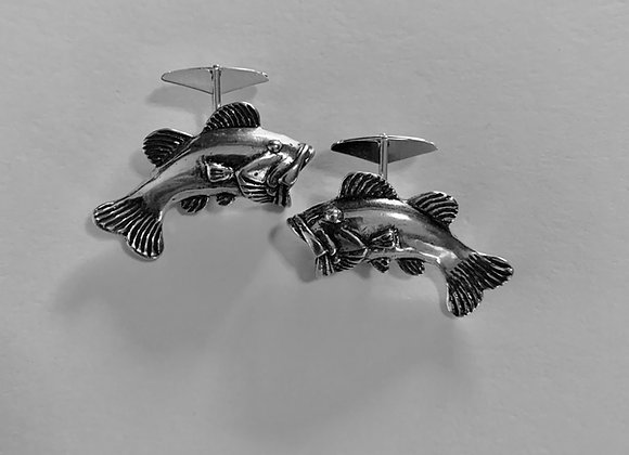 Wide Mouth Bass Cuff Links