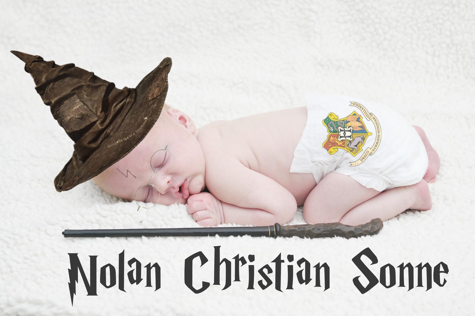Harry Potter Newborn Session