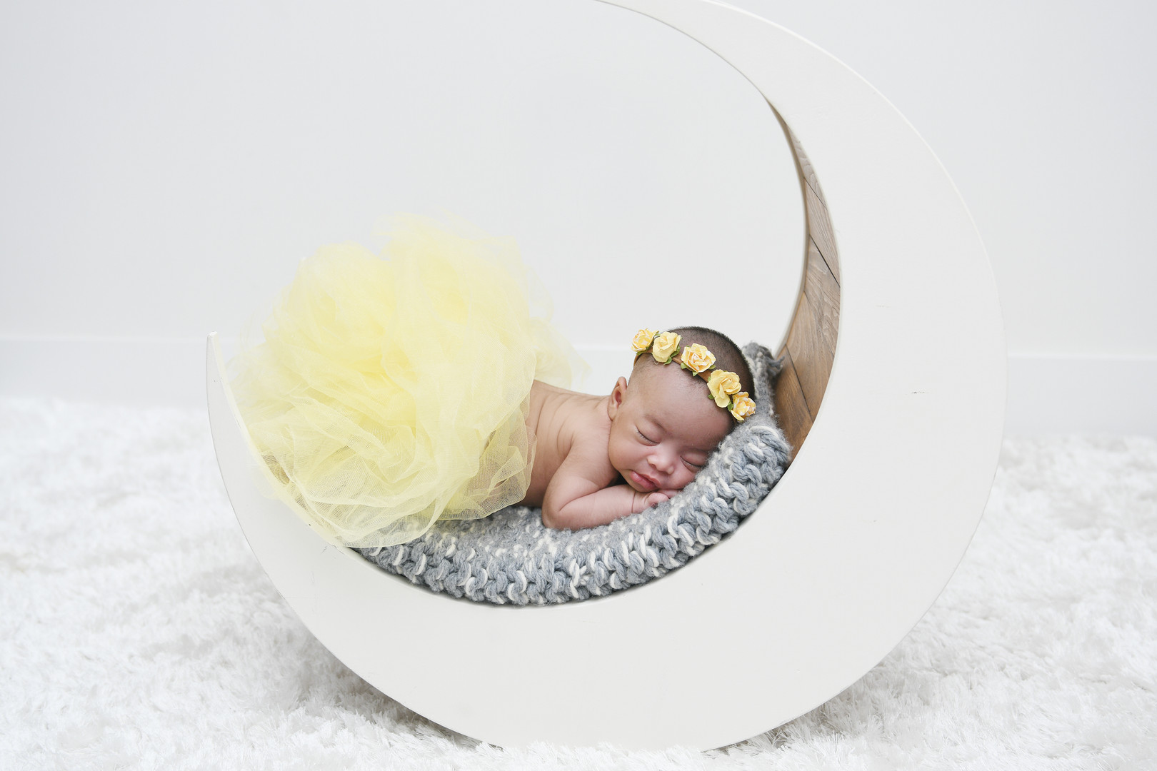 Yellow Tutu Newborn Photo
