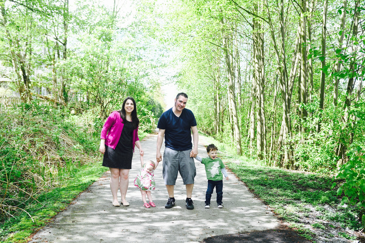 Walk in The Woods Family Photo