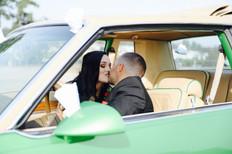 Classic Car Wedding Photo