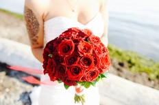 Surrey Beach Wedding Photo