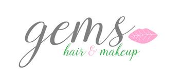 Gems Hair and Makeup Logo
