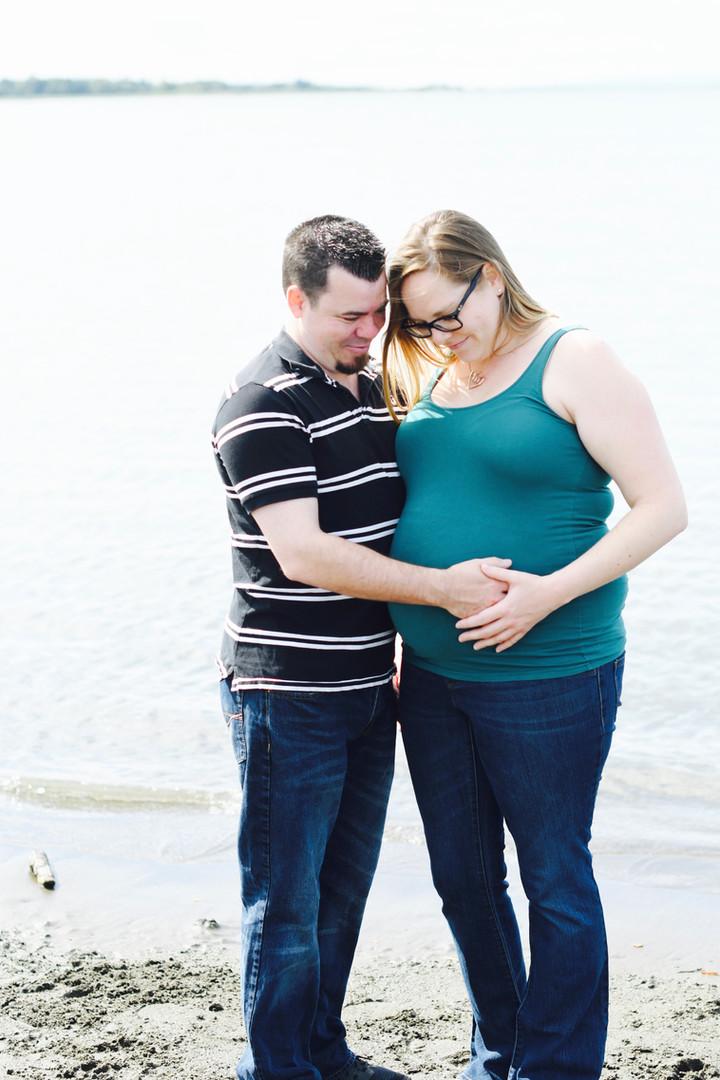 Surrey Maternity Beach Photography