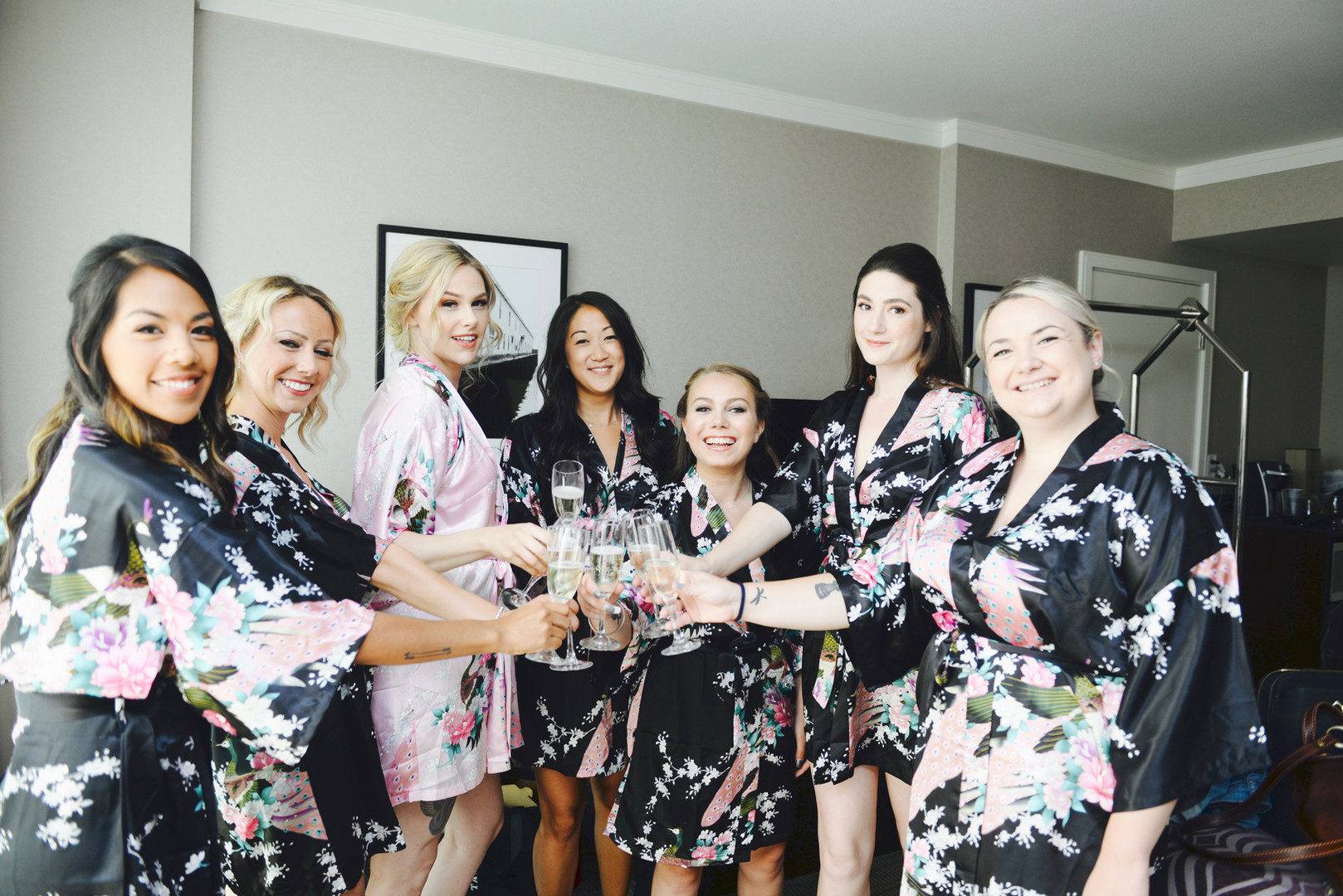 Wedding Party Floral Robes