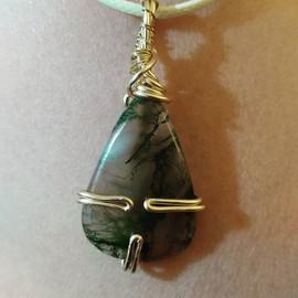 (Update Sold)N021 Green Moss Agate__Emai