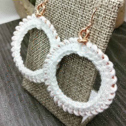 Small Crochet Edge Hoops