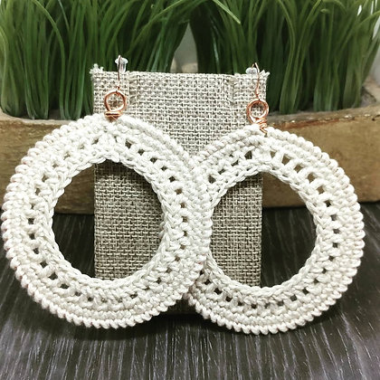 Crochet Edge Hoop Earrings