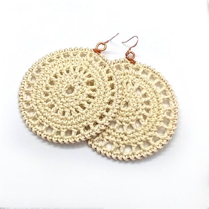 Doily Hoop Earrings