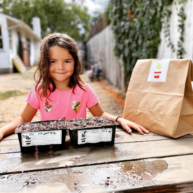 Lucia Martinez, Age 7, smiles proudly with her kits (Image: getstarted)