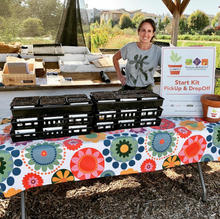 Cara Storm, getstarted director at Pick Up Day at Petaluma Bounty 8.8.20 (Image: getstarted)