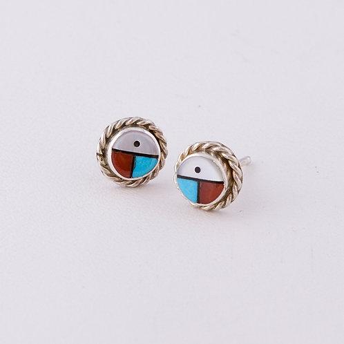 Zuni Inlay Earrings ER-0187