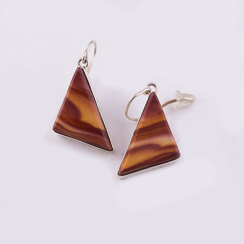 Ron Henry Sterling Tiger Eye Earrings ER-0065
