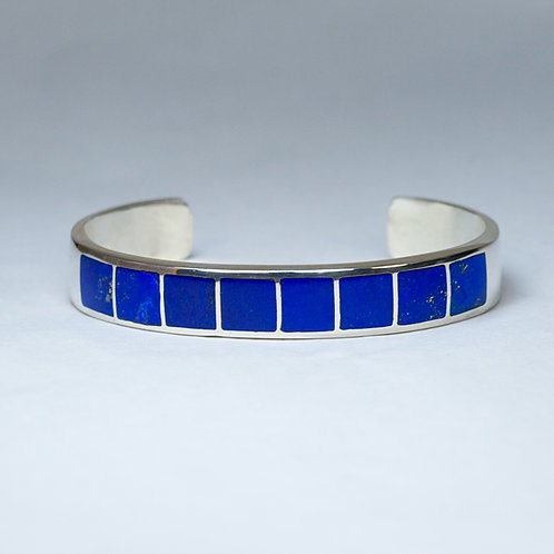 Carlos Diaz Sterling Lapis Bracelet BR-0232