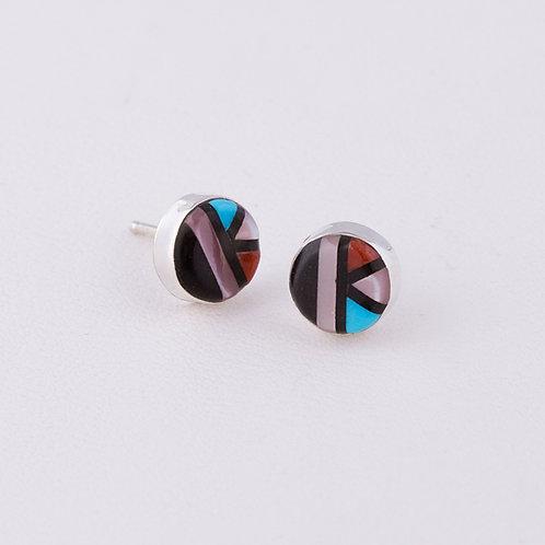 Zuni Inlay Earrings ER-0188