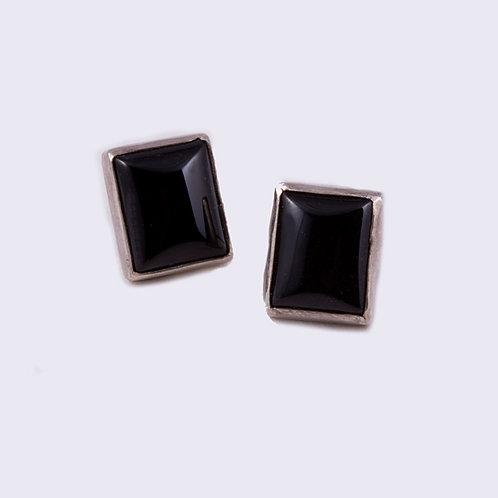Carlos Diaz Sterling Onyx Earrings ER-0042
