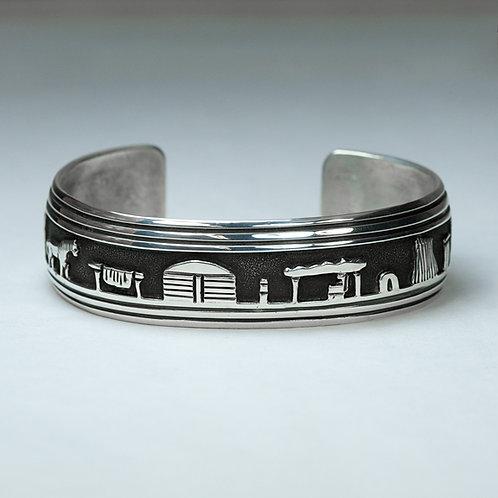 Sterling Story Teller Bracelet BR-0067