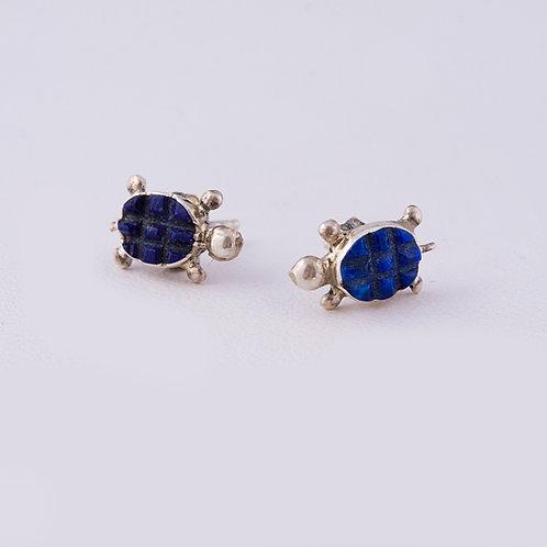Zuni Sterling Turtle Earrings ER-0077