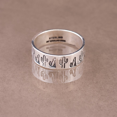 Carlos Diaz Sterling Stamped ring RG-0117