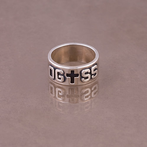 Carlos Diaz Sterling Overlay Ring RG-0080