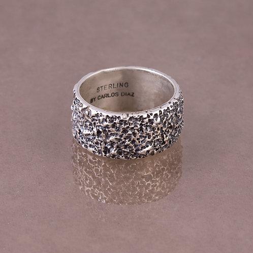 Carlos Diaz Sterling Tree Bark Ring RG-0076