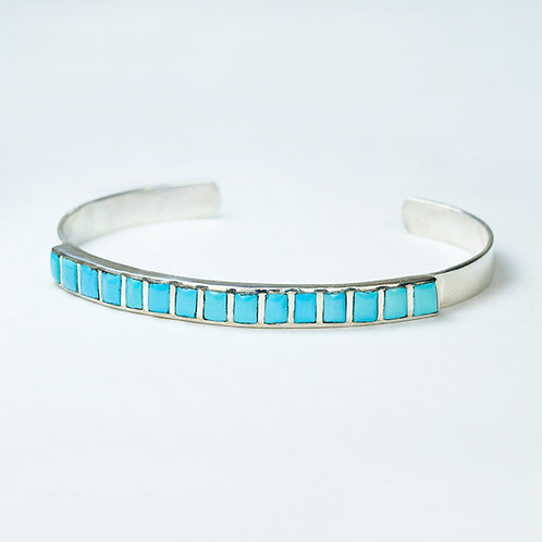 Sterling Silver Inlay Turquoise Bracelet BR-0006