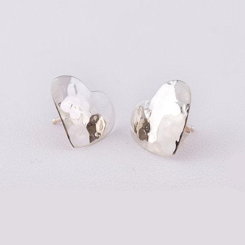 Carlos Diaz Sterling Heart Earrings ER-0145