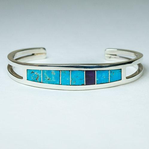 Ron Henry Sterling Inlaid Bracelet BR-0074
