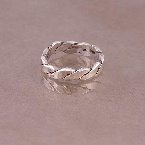 Carlos Diaz Sterling Braided  Ring RG-0037
