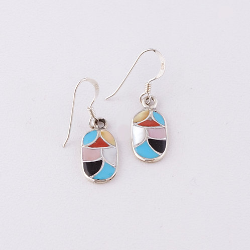Zuni Inlaid Earrings ER-0096