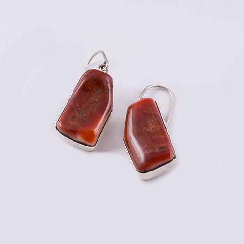 Ron Henry Sterling Spiny Oyster Earrings ER-0059
