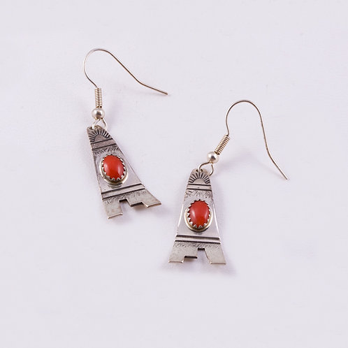 SOLD Peter Nelson Sterling Dangle Earrings ER-0050