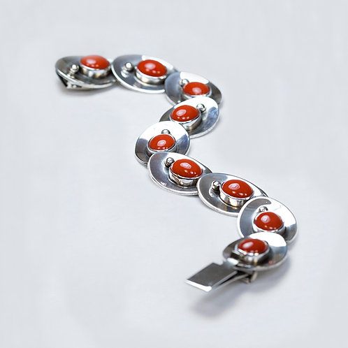 SOLD Carlos Diaz Sterling Coral Bracelet BR-0192