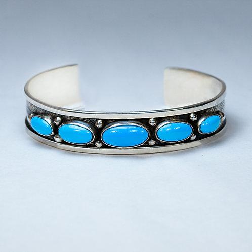 Carlos Diaz Sterling Turquoise Bracelet BR-0223