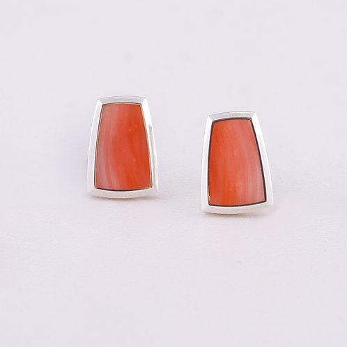 Gene Alu Sterling Coral Earrings ER-0254