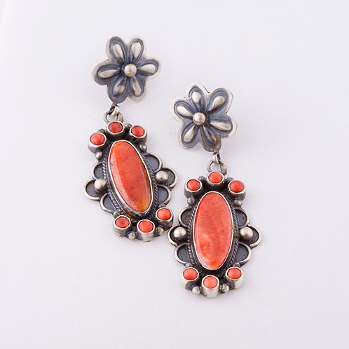Navajo Sterling Spiny Oyster Earrings ER-0111
