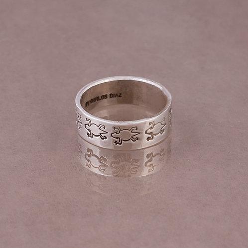 Carlos Diaz Sterling Stamped  Ring RG-0064