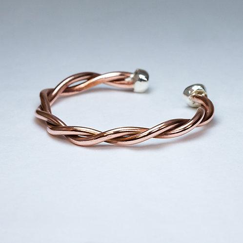 Carlos Diaz Copper & Sterling Bracelet BR-0246