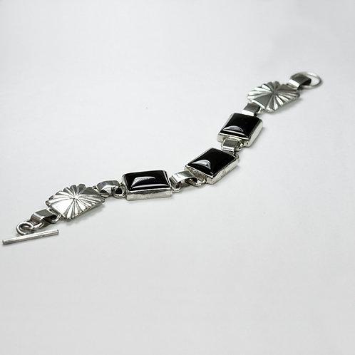 Jimmy Patterson Sterling Onyx Bracelet BR-0051