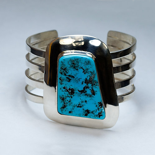 Carlos Diaz Sterling & Turquoise Bracelet BR-0248