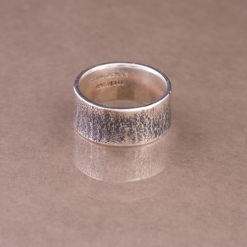 Carlos Diaz Sterling Textured Ring RG-0109