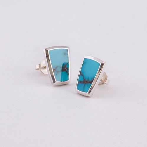 Gene Alu Sterling Turquoise Earrings ER-0252